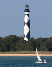 Lookout Lighthouse and Sailboat